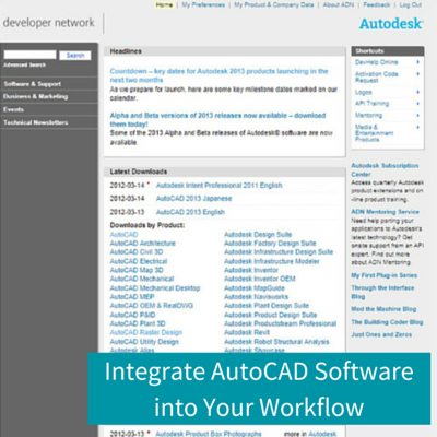 Integrate AutoCAD Software Into Your Workflow