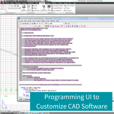Programming UI to Customize CAD Software